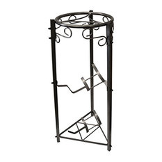 35'' Black 3 Stage Metal Stand
