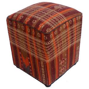 Awe Inspiring Canada Orange Rust Handmade Kilim Upholstered Ottoman 16 Evergreenethics Interior Chair Design Evergreenethicsorg