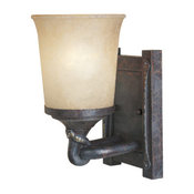 Austin 1 Light Wall Sconce in Weathered Saddle