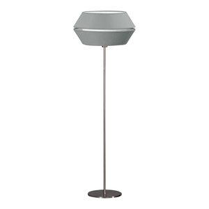 Anubis Floor Lamp, Gray and Satin Nickel