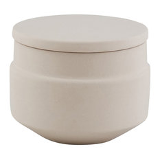 Ceramic Sugar Pot, Grey