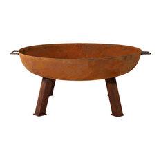 """Sunnydaze Decor - Rustic Cast Iron Fire Pit Bowl, 34"""" - Fire Pits"""