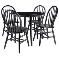Moreno 5-Piece Set Drop Leaf Table With Chairs