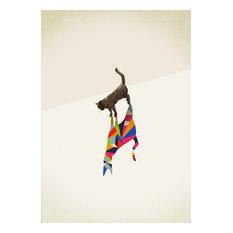 Cat Framed Fine Art Print, 48x65 cm