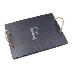 Personalized Slate Serving Board, F