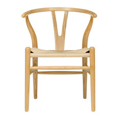 Wishbone Chair, Midcentury Modern, Commercial-Grade, Ash With Natural Cord