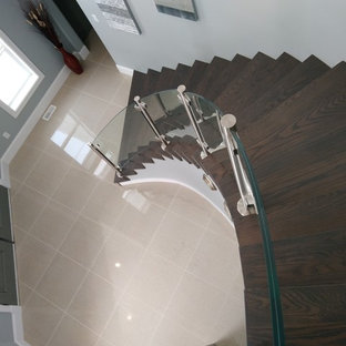 Curved Glass Stairway