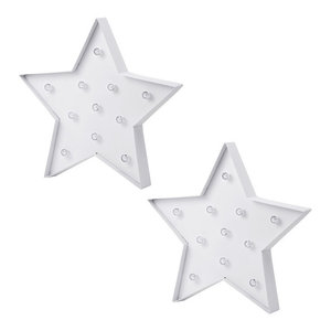 Pack of 2 Litecraft Star Shaped Novelty Table or Wall Light
