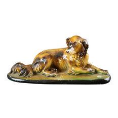 Consigned Statue Dog Chalkware Vintage French 1930