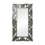 Large Ornate Silver Wall/Floor Mirror, 90x168 cm
