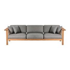 OASIQ MARO 3 Seater Sofa, Charcoal Chine
