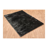 Whisper Graphite Rectangle Plain/Nearly Plain Rug 65x135cm