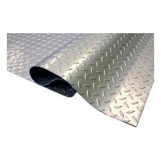 Diamond Pattern Nitro Garage Flooring Rolls Floor Mat, Stainless Steel, 7.5'x20'