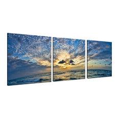 Ready2HangArt Christopher Doherty 'Ocean' Canvas Wall Art (3 Piece)