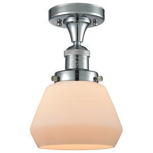 Toltec Lighting Meridian 1 Light Semi-Flush with 5 Bubble Glass Chrome