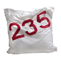 Recycled Sail Maxi Bean Bag, White and Red