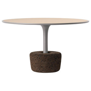 Floral Tall Cork Coffee Table, Grey