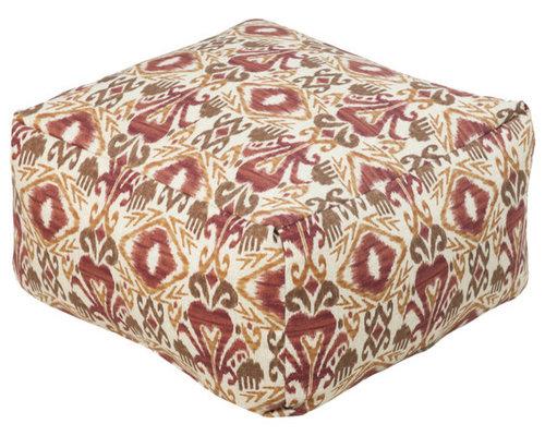 Surya Poufs- (POUF-114) - Floor Pillows And Poufs