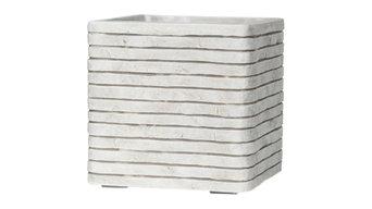 Square Resin White Planter, 31x31x31 CM