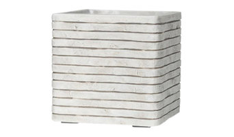Square Resin White Planter, 31x31x31 CM