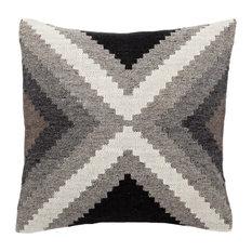 "Jaipur Living Terzan Gray/White Geometric Down Throw Pillow 20"", Down Fill"