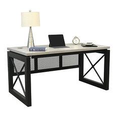 "Urban Compact Desk 60""x32"" Concrete Laminate"