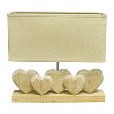 5-Heart Lamp With Shade