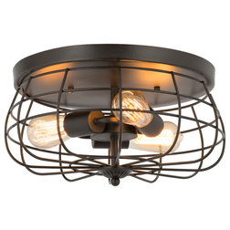 Industrial Flush-mount Ceiling Lighting by Banyan Imports