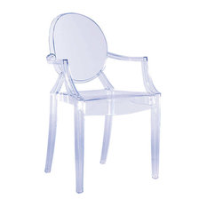 Louis Ghost Chair by Kartell, Set of 2, Ice Blue, Accent Option: None