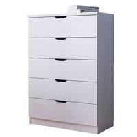 5 Drawers Chest Dresser, 5 Drawers, White