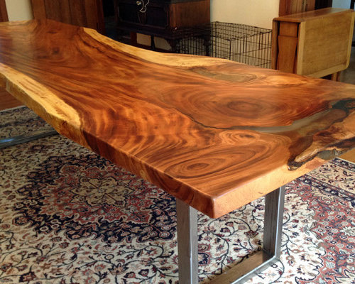 Natural Edge Timber Dining Table: Natural / Live Edge Furniture