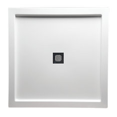 """42""""x42"""" Free Standing DS Base With Square Drain, White"""