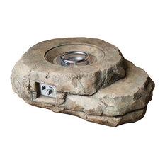 Kivi Lexora Rock Shaped Fire Pit With Round Burner Kit