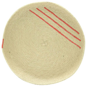 Jute Tray With Red Accents, Medium