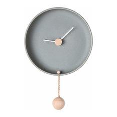 Totide Wall Clock, Grey, Large