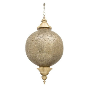 Globe Brass Moroccan Ceiling Pendant