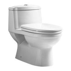 "Eco-Friendly One Piece Traditional Toilet, 27""X25"""