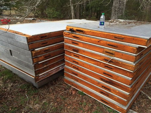 Walk In Cooler Panels >> New Raised Beds Made From Recycled Walk In Cooler Panels