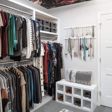 Modern Chic Master Closet