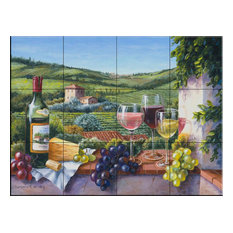Tile Mural, Tasting Time by Barbara Felisky