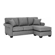 Lafayette Reversible Chaise Sofa, Smoke