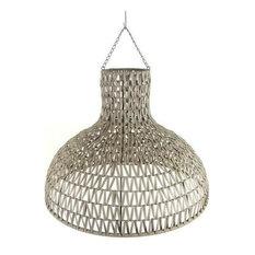 - Woven bamboo pendant - Pendant Lighting