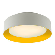 Bromi Design Lynch White and Yellow Flush Mount Ceiling Light