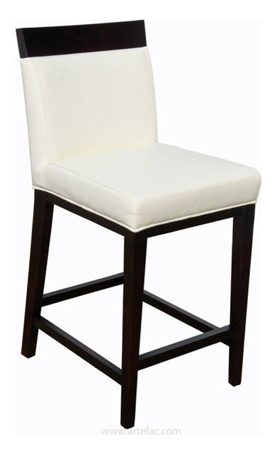 Top Grain Leather Counter Stool, Cream