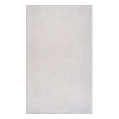 Hand-Loomed Chalet Diamond Cotton Rug, Taupe, 9'x12'