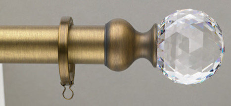 Crystal Curtain Rod Home Decor