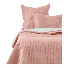Cathalina Linen, Petal Pink, Twin Quilt Set