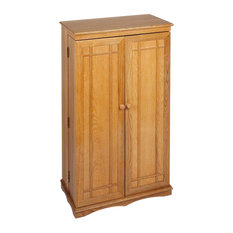 "Leslie Dame 40"" CD DVD Media Storage Cabinet in Oak"