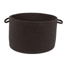 "Rhody Rug Wear Ever Brown Velvet Poly 18""X12"" Basket"