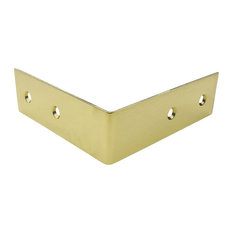 TH-1B Brass Corner Bracket, Bright